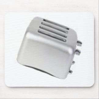 Vintage Retro Toaster Design - B&W Grey Mouse Pad