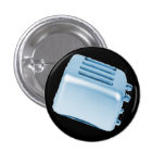 Vintage Retro Toaster Design - Blue Button