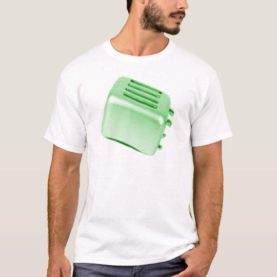 Vintage Retro Toaster Design - Green T-Shirt