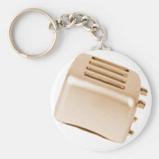 Vintage Retro Toaster Design - Orange Keychain