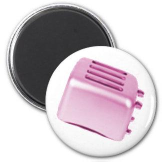 Vintage Retro Toaster Design - Pink 2 Inch Round Magnet