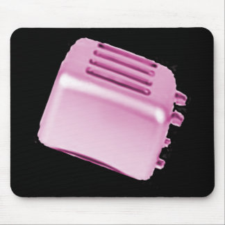 Vintage Retro Toaster Design - Pink Mouse Pad