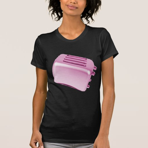 Vintage Retro Toaster Design - Pink Tee Shirt