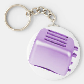 Vintage Retro Toaster Design - Purple Keychain