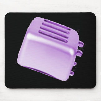 Vintage Retro Toaster Design - Purple Mouse Pad