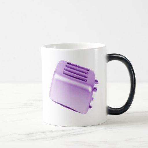 Vintage Retro Toaster Design - Purple Mugs