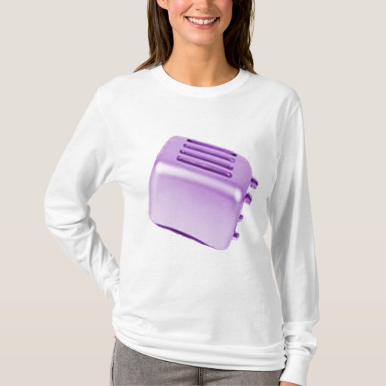 Vintage Retro Toaster Design - Purple T-Shirt
