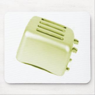 Vintage Retro Toaster Design - Yellow Mouse Pad