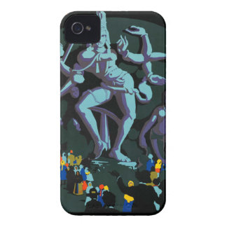 Vintage Retro Travel Art Poster India iPhone 4 Cover