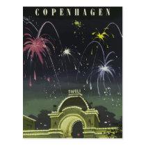 Vintage retro travel postcard Denmark