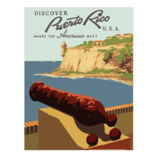 Vintage retro travel postcard Puerto Rico