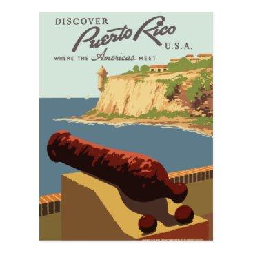 DreamersHeart Vintage retro travel postcard Puerto Rico