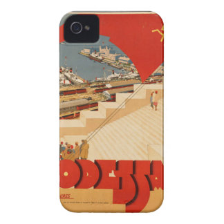 Vintage Retro Travel Poster Art iPhone 4 Covers