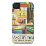 Vintage Retro Travel Poster Art iPhone 4 Cover
