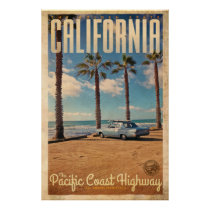 Vintage Retro travel poster from California