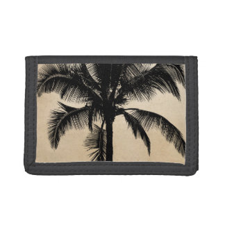 Vintage Retro Tropical Palm Tree - Palms Template Trifold Wallet