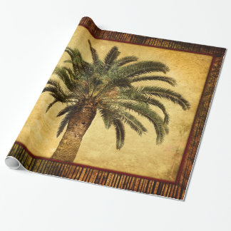 Vintage Retro Tropical Palm Tree - Palms Template Wrapping Paper