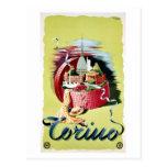 Vintage retro Turin Torino Italian travel ad Postcard