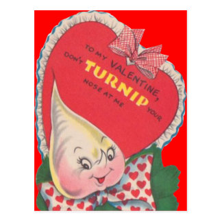 Vintage Retro Turnip Valentine Card