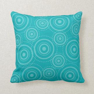 Vintage Retro Turquoise MoJo Throw Pillow