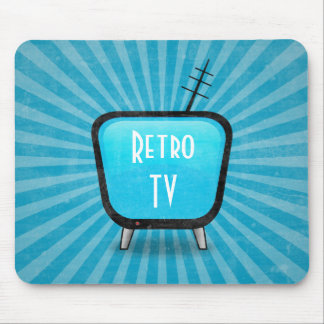 Vintage Retro TV Television Poster Mouse Pad