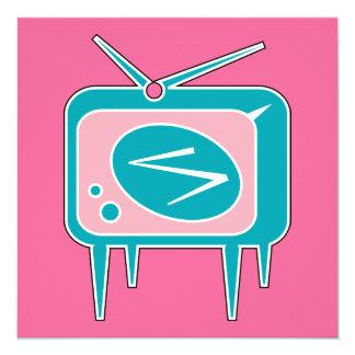 Vintage Retro TV Television Set Card