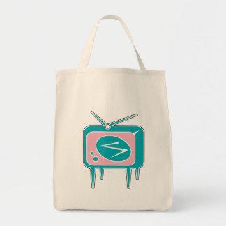 Vintage Retro TV Television Set Tote Bag