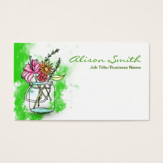 Vintage retro Unit of capacitance with flowers Business Card