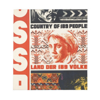 Vintage Retro USSR Country of 189 Peoples Notepad