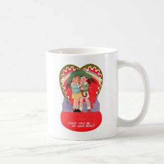Vintage Retro Valentine Be My Rain Beau Classic White Coffee Mug