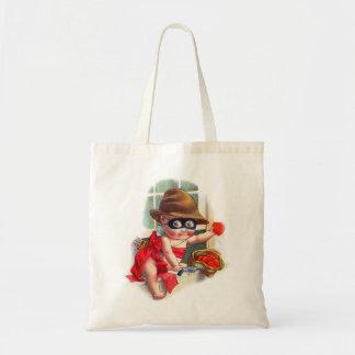 Vintage Retro Valentine Cupid the Little Thief Tote Bag