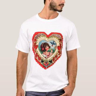 Vintage Retro Valentine Heart My Valentine Girl T-Shirt