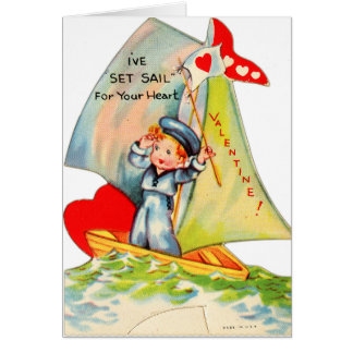 Vintage Retro Valentine I ve Set Sail For You Cards