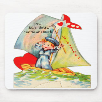 Vintage Retro Valentine I ve Set Sail For You Mousepad