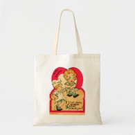 Vintage Retro Valentine If I had Plenty of Dough Budget Tote Bag