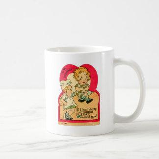 Vintage Retro Valentine If I had Plenty of Dough Classic White Coffee Mug