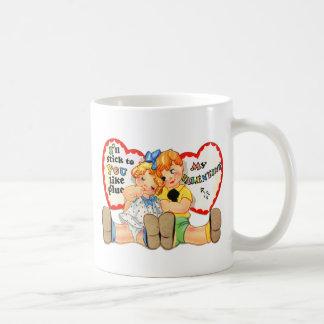 Vintage Retro Valentine I'll stick to you! Classic White Coffee Mug