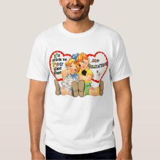 Vintage Retro Valentine I'll stick to you! Shirt