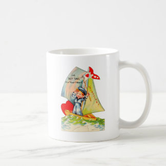 Vintage Retro Valentine I've Set Sail For You! Classic White Coffee Mug