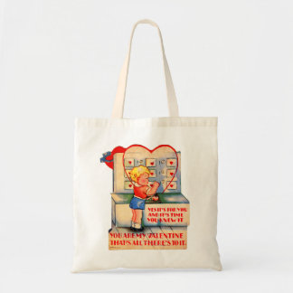 Vintage Retro Valentine Kitsch It's Time You Knew Canvas Bag