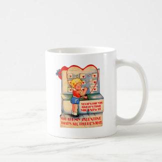 Vintage Retro Valentine Kitsch It's Time You Knew Classic White Coffee Mug