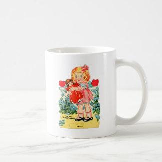 Vintage Retro Valentine Kitsch To My Sweetheart Classic White Coffee Mug