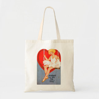 Vintage Retro Valentine Trapeze I'll Fall for You Bag