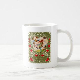 Vintage Retro Valentine Victorian Be Mine. Classic White Coffee Mug