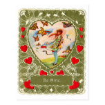 Vintage Retro Valentine Victorian Be Mine. Postcard