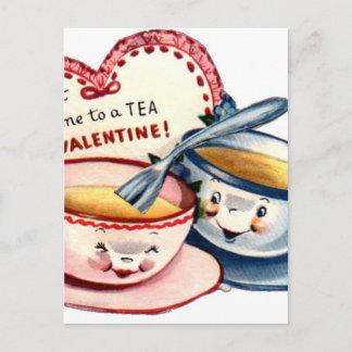 Vintage Retro Valentine's Day Holiday Postcard