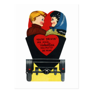 Vintage Retro Valentine's Day, Love and Romance Postcard