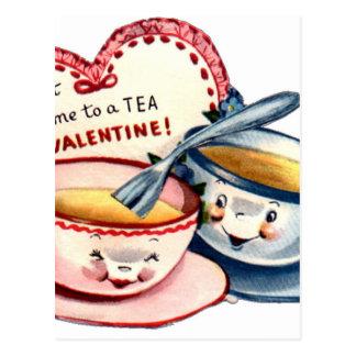 Vintage Retro Valentine's Day Postcard