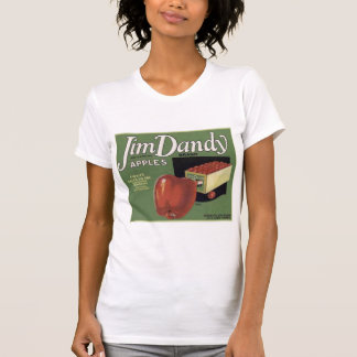 Vintage Retro Vegetable and Fruit Crate Label Tees