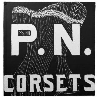 Vintage/Retro Victorian Corset Advertising Cloth Napkins